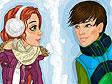 משחק הלבשת זוג בשלג