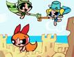 משחק בנות הפאוור-פאף וטירת החול