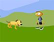משחק תפוס כלב תפוס