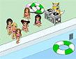בראץ בבריכה