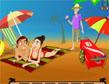 משחק תעלולים בחוף