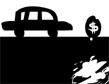 מכונית שחור-לבן