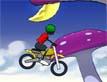 אופנוע בשמים עם יהלומים
